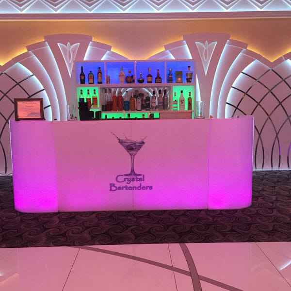 Crystal Bartenders Bar Rental